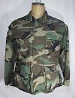 Military Coat Combat Woodland Camouflage Pattern Mens Size S Short Parka Jacket