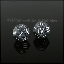 NEW 2 Roman Numeral D4 12 Sided RPG Dice Urban Camo Speckled Game Die Chessex