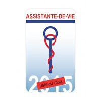 Caducée Assistante-de-vie autocollant sticker