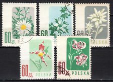 Poland - 1957 Flowers - Mi. 1020-24 VFU