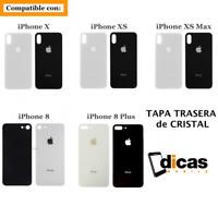 Tapa Trasera de Cristal Compatible con iPhone 8 8 Plus X XS XS Max XR Bateria