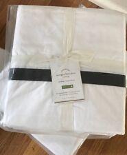Pottery Barn Morgan Banded Bed Skirt Black Full Box Pleat Bedskirt New