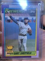 1990 Topps Gary Sheffield Brewers All-Star Rookie #718 NMT