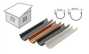 Agande Regenrinnen Set Kunststoff mit Metalhalter für 1 Dachseite Dachrinnenset
