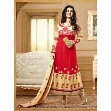 Red Colored Modern Georgette Party Wear Designer Salwar Suit Fm-15002