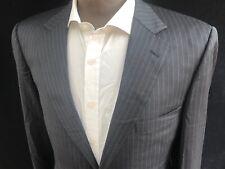 Gieves & Hawkes Blazer Jacket, Size 42L, Grey Pinstripe, RRP £589 *Wool*