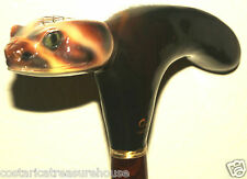 2pc DIAMOND BACK HANDLE CANE HAND CARVED & PAINTED ovrszd handle 3D ART!! DB01