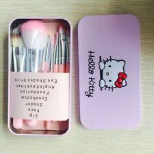 Hello Kitty 7pcs Powder Brush Set Foundation Eyeshadow Eyeliner Lip Brush Tool