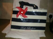 TED BAKER HAND SHORT SHOULDER BAG   BLACK WHITE RED TONES  USED STILL A GOOD BUY