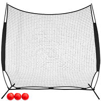 8x8ft Barrier Net Pitching Screen Portable Baseball Net Softball Batting Net