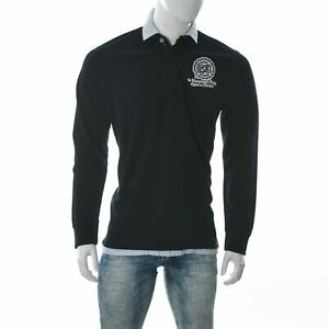 Nils Sundstrom Men's UK Rugby Union Oxford Harvard Polo T-Shirt Long Sleeve L