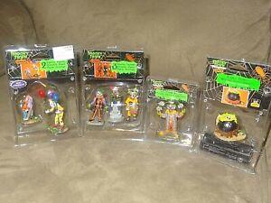 Lemax Spooky Town 3 Assorted Creepy Evil Clown Figurines, Plus HTF Bubble Bubble