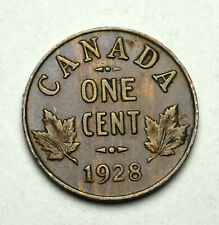 1928 CANADA King George V 1 cent High Grade excellent details