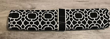 Pottery Barn Kids Baby Diaper Changing Pad Portable Black & White Nwot