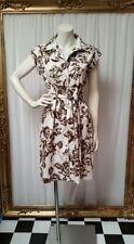 Hoss cotton floral dress with matching belt. Size 10