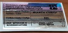 Fiat uno turbo adesivo colore ppg bianco corfù 224