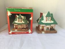 Holiday Traditions Lighted House Christmas Decoration Collectable Christmas
