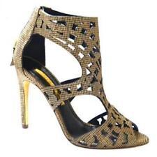 Rupert Sanderson Gold High Heel caged sandals UK4/EU37 RRP £650