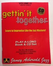 Jazz Gettin' It Together Volume 21 With Supplement & 2 Cds Jamey Aebersold 1979
