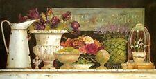 Kathryn White: Fleurs de Paris Keilrahmen-Bild 35x70 Leinwand Shabby Stilleben