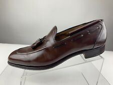 CHURCHS Kingsley Brown Apron Leather Loafer Slip Tassel Shoe Men UK 11 B US 12 B