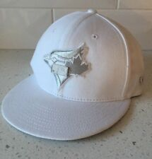 TORONTO BLUE JAYS White/Silver Adjustable Baseball Hat - MLB Cap