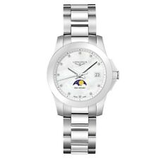 New Longines Conquest Moonphase Stainless Steel Women's Watch L33814876