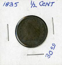 US Coin 1835 Classic Head Half Cent NO RESERVE!