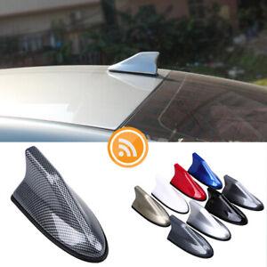 1x Carbon Fiber Shark Fin Roof Antenna Radio AM/FM Signal Aerial Car Amplifier
