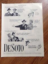 1951 DeSoto Ad Drive A De Soto before you Decide