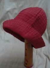 Chapeau Cloche d'été en gros grain rouge cerise Jacques Le Corre - taille 55 cm