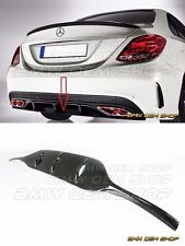 DRY CARBON FIBER REAR DIFFUSER COVER FOR 2015+ W205 C250 C300 C450 AMG SPORT 4Dr