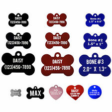 Personalized Laser Engraved Pet ID Tags for Cats and Dogs
