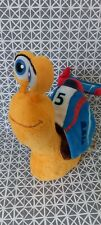Doudou peluche Turbo l'escargot orange marron bleu rouge 25 cm Gipsy