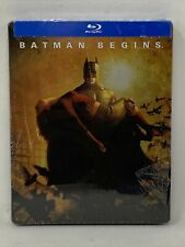 Batman Begins (Blu-ray Disc, 2013, SteelBook Christian Bale *Case Damage*