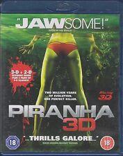 PIRANHA 3D - 3D & 2D Versions. 1x3D Glasses. 1xAroma-Scope Card (2xBLU-RAY 2010)