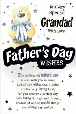Special GRANDAD ~ Quality FATHER'S DAY card Fathers Day Bear Design