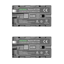 Neewer (2 pacchi) 2600mAh Batteria Ricambio per Sony NP-F550 /570 / 530 / Neewer