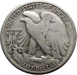 1944 WALKING LIBERTY Half Dollar Bald Eagle United States Silver Coin i44703