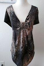 Women's Casual Multicolor Short Sleeve Size XL