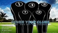 Golf Club Head Covers New Driver Black Full Headcover Fairway 1 3 5 7 9 Wood Set
