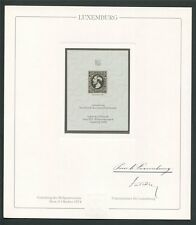 LUXEMBOURG No. 1 OFFICIAL REPRINT UPU CONGRESS 1984 MEMBERS ONLY !! RARE !! z693