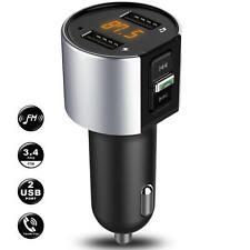 Car Cigarette Lighter Bluetooth Calling FM Radio Transmitter MP3 USB Port