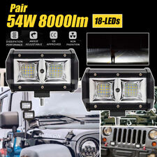 2x 5 INCH LED Work Light Bar Spot Flood Beam OffRoad Fog Driving Reverse 54W/pc