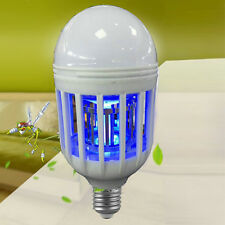 LED Anti-Mosquito Bulb 15W 1000LM 6500K Electronic Insect Fly Lure Kill Bulb L7S