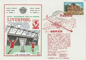 7 OCT 1972 AEK ATHENS v LIVERPOOL FLOWN DAWN FOOTBALL COVER 1 of ONLY 5
