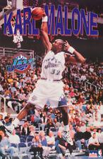 POSTER : NBA BASKETBALL : KARL MALONE UTAH JAZZ  - FREE SHIPPING ! #3077  RC34 F