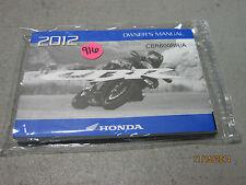 New 2012 HONDA CBR600 CBR600RR/A Owners Operators Manual & Ride Tips #916
