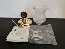Thomas Lighting SL-1034-1 Polished Brass W/Frosted Glass Shade Light Fixture NIB