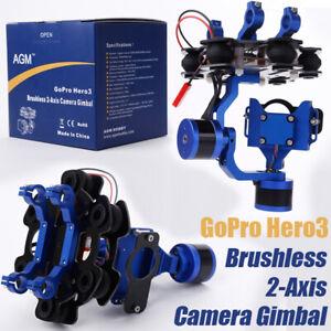 2 Axis Brushless Gimbal Gopro Camera Stabilizer  Hero3 Hero3+ Blau